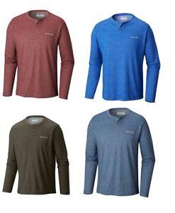NWT-Columbia-Men-039-s-Thistletown-Park-Henley-Long-Sleeve-Shirt-Size-S-M-L-XL-2XL