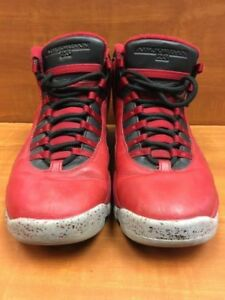 82bcdfaf0c02 Nike Air Jordan 10 X Retro 30th Bulls Over Broadway Red Black 705178 ...