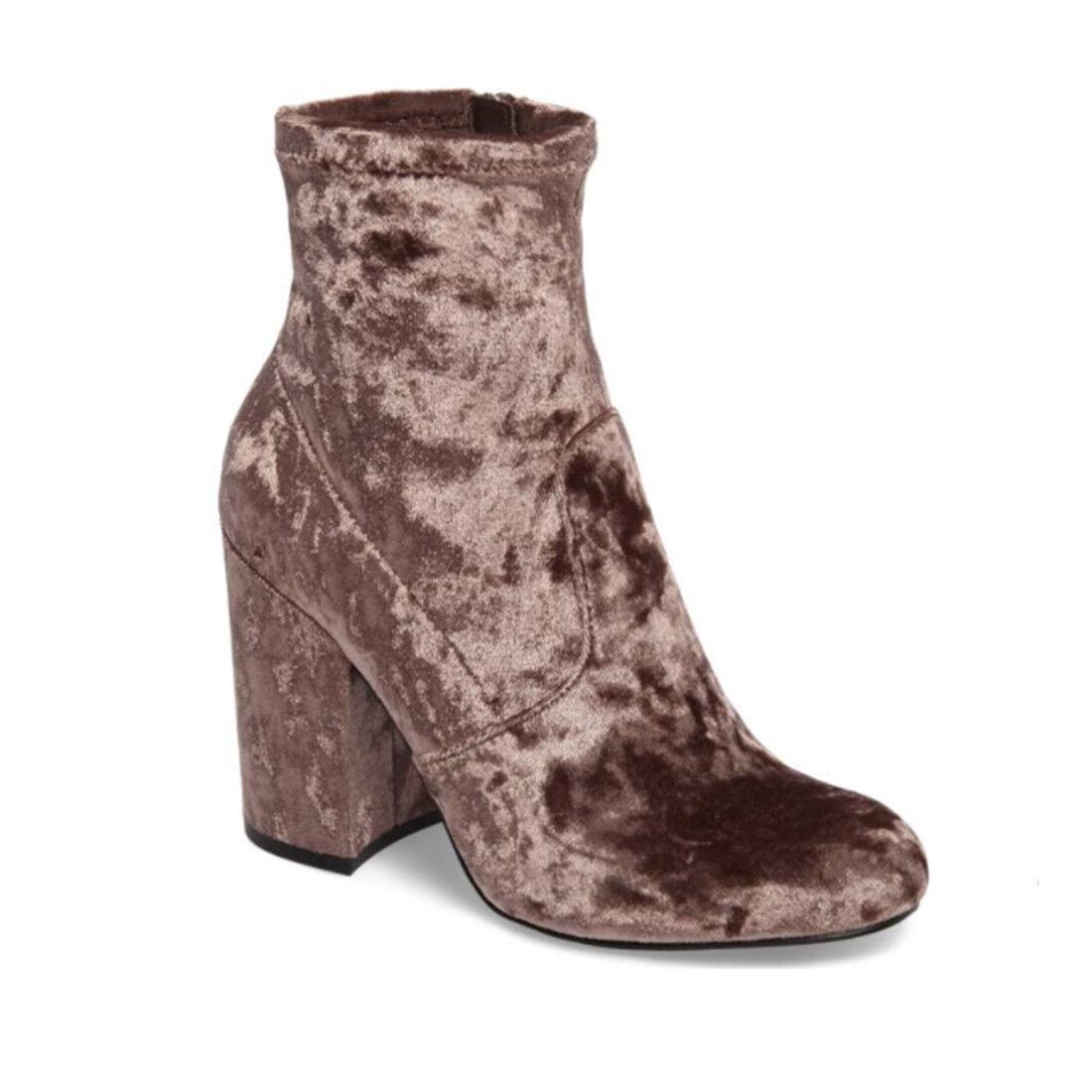 Steve Madden Women's  120 Gaze Ankle Boots (8) Booties shoes Taupe Velvet New