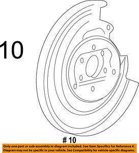 FORD OEM Rear Brake-Backing Splash Dust Shield Plate 4L3Z2C029AA