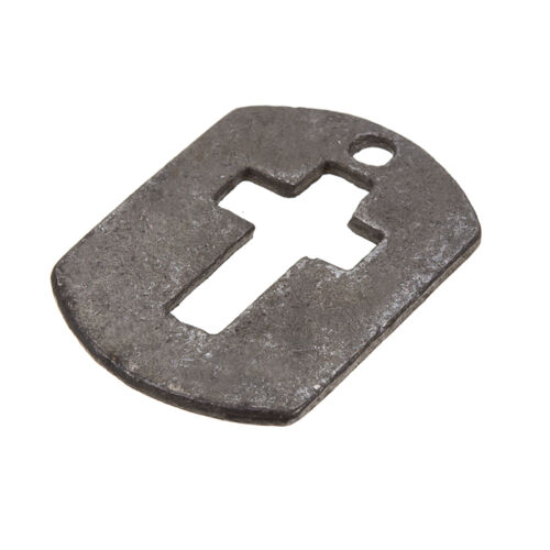 C85//3 Black Rectangle Cut Out Cross Tag Charm Pendants 30x22mm Pack of 1