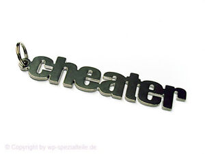 Details about CHEATER Keychain Keyring Chain Fob Keyfob Pendant CSS Cheat  StarCraft II NEW