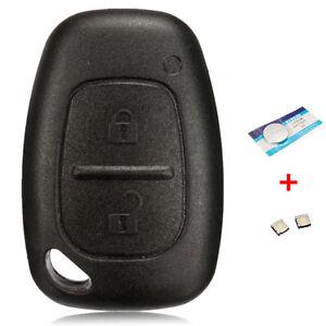 housse de clé en silicone pour Vivaro Trafic Modus 2 boutons