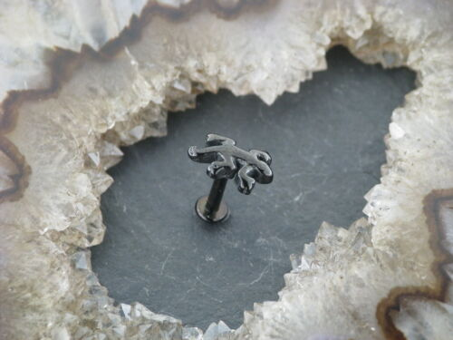 Piercing Labret Salamander Blackline GECKO Lippenpiercing Ohrstecker Tragus