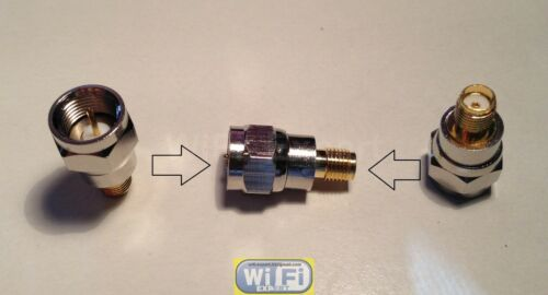 F Type Male Jack to SMA Female Plug Straight Adapter RF Connector Converter
