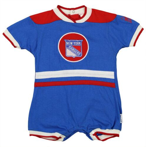 Hockey New York Rangers NHL Baby Boys Girls Infant Large Patch Romper, Blue