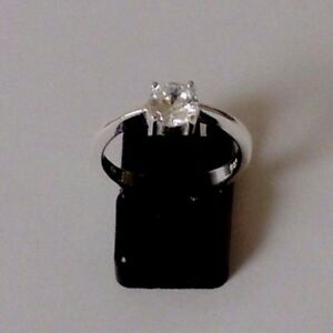 925-STERLING-SILVER-ROUND-CUBIC-ZIRCONIA-RING-size-N
