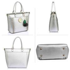 item 3 New Lady Designer Tote Shoulder Handbags Womens Faux Leather Stylish Bags  Charms -New Lady Designer Tote Shoulder Handbags Womens Faux Leather ... 3eec50ccdae08