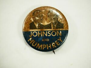 Johnson-y-Humphrey-Politico-Campaign-Boton-Pin-3-7cm