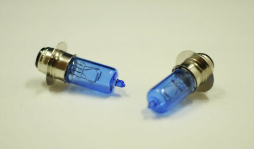 2X MOTORCYCLE /& ATV HEADLIGHT BULBS BLUE LIGHT H6M 35W QUADS PRAIRIE 360 400 YFZ