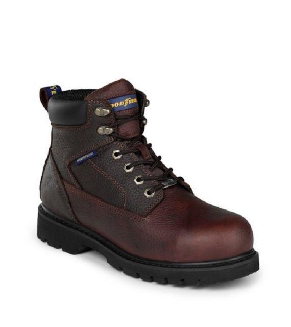 "NEW IN BOX GOODYEAR Mens 6"" Briar Work Boots Dark Brown Oiled Nubuck GY6003"