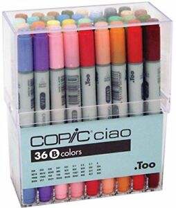Too-Copic-Ciao-36-colors-B-set-Art-Markers-for-Design-Manga-Anime-Japan-F-S