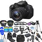 Canon EOS Rebel 700D / T5i DSLR Camera with EF-S 18-55mm Lens!! MEGA KIT NEW!!