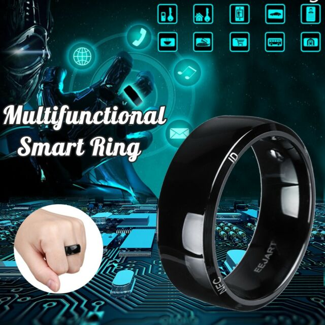 NFC Smart Wearable Ring Magic Black 8 Sizes For Windows IOS Android Mobile  Phone