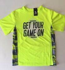 Children's Place Boy's Sports Dry T-Shirts Kids Size Small(5-6) Yellow NWT