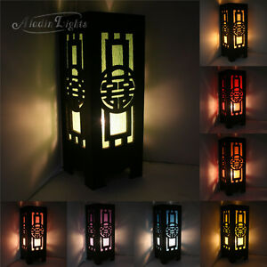 japanese style lighting. image is loading gaiashinecarvedwooddesktablelamphomedecor japanese style lighting l