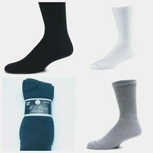 12 Pairs Men Crew Cotton Cushioned Sports Trainer Socks Work  6-11 Lot
