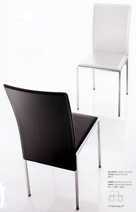 Sedie Metallo E Cuoio.4 Sedie In Metallo E Cuoio Rig Nuovi Colori X