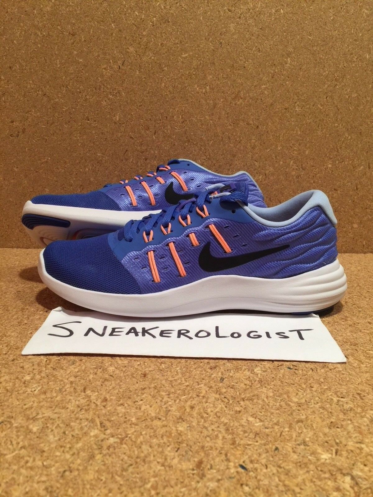 Nike Wmns lunarstelos Medio Negro Azul Negro Medio Sunset Glow para mujer 844736-402 3c4e7b
