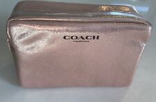 COACH Fragrance Rose Pink Gold Pouch Metallic cosmetic bag toiletry makeup case