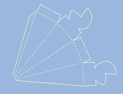 mascherina per creare scatoline a cono per bomboniere scrapbooking