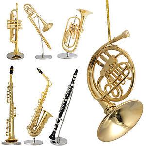 Gold Plated Minature Musical Instrument Figurine ...