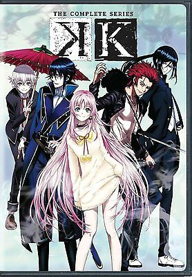 K  THE COMPLETE SERIES DVD Japanese Anime  2-Disc Set NEW 13 Episodes + Extras