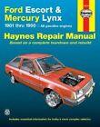 Ford Escort & Mercury Lynx (81-90) Automotive Repair Manual by J. H. Haynes, Alan Ahlstrand (Paperback, 1988)
