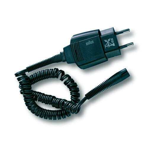 schwarz,IPX4,MN ab 05//2006 Braun Rasierer-Steckernetzteil Smart Plug mit Kabel