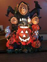 Pacific Rim Bears/pumpkins Cubs Cat Frogs Halloween Decoration Lighted