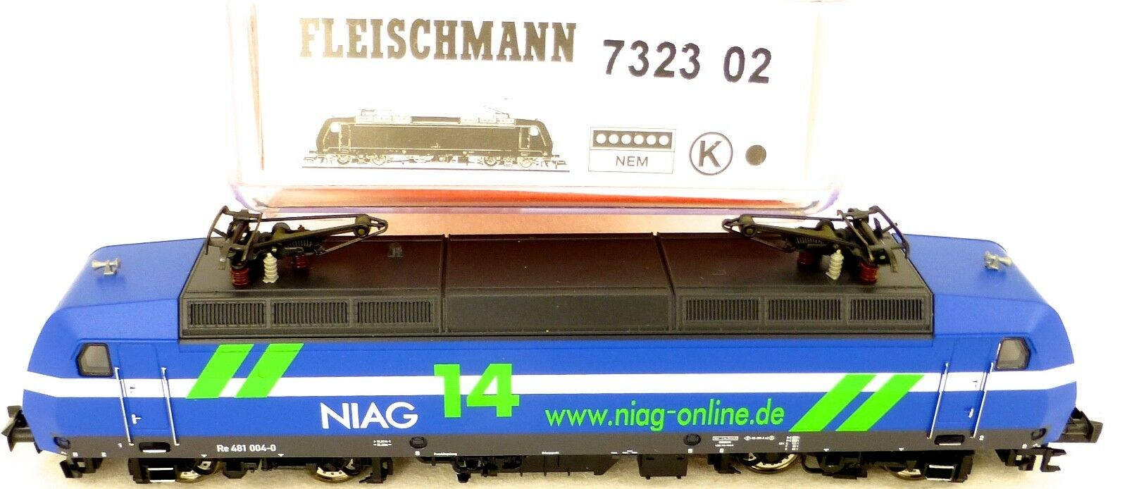 Fleischmann 7323 02 Re 481 004-0 Ellok Niag Nem N 1 160 Conf. Orig. Μ