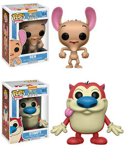 Funko Pop Animation Ren Stimpy Vinyl Figure Set Cartoon Network Ebay