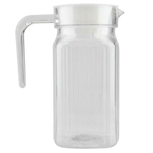 Acrylic Transparent Water Jug Teapot Lemonade Juice Striped Cold Water Bottle