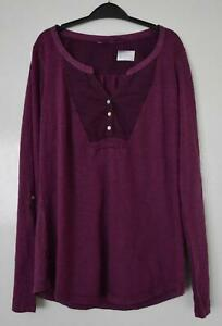 NEW-EX-FAT-FACE-UK-SIZE-6-8-PURPLE-DAMSON-LONG-SLEEVES-JERSEY-TOP-BLOUSE-TEE