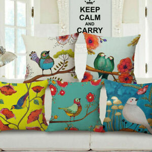 18-034-Home-Cotton-Linen-Car-Sofa-Bed-Decor-Waist-Cushion-Pillow-Cover-Fashion-Bird