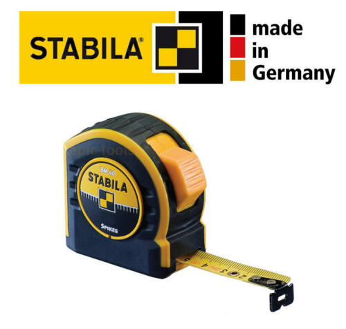 STABILA PRO BM40 5m//16ft Metric /& Imperial Pocket Tape Measure With Belt Clip