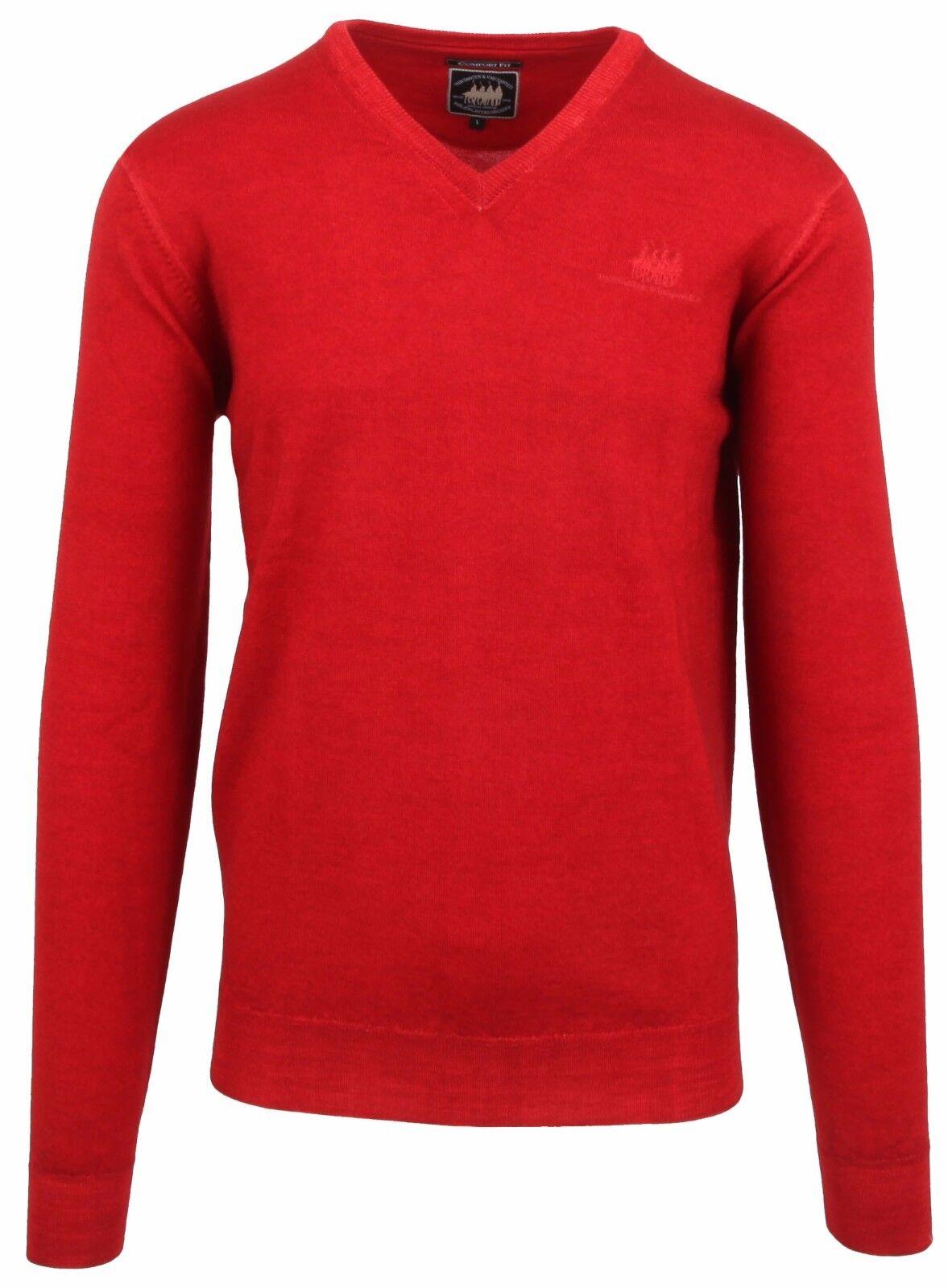 VAN SANTEN & VAN SANTEN Pullover Sweater Größe L V-Ausschnitt 100% Wolle Wool