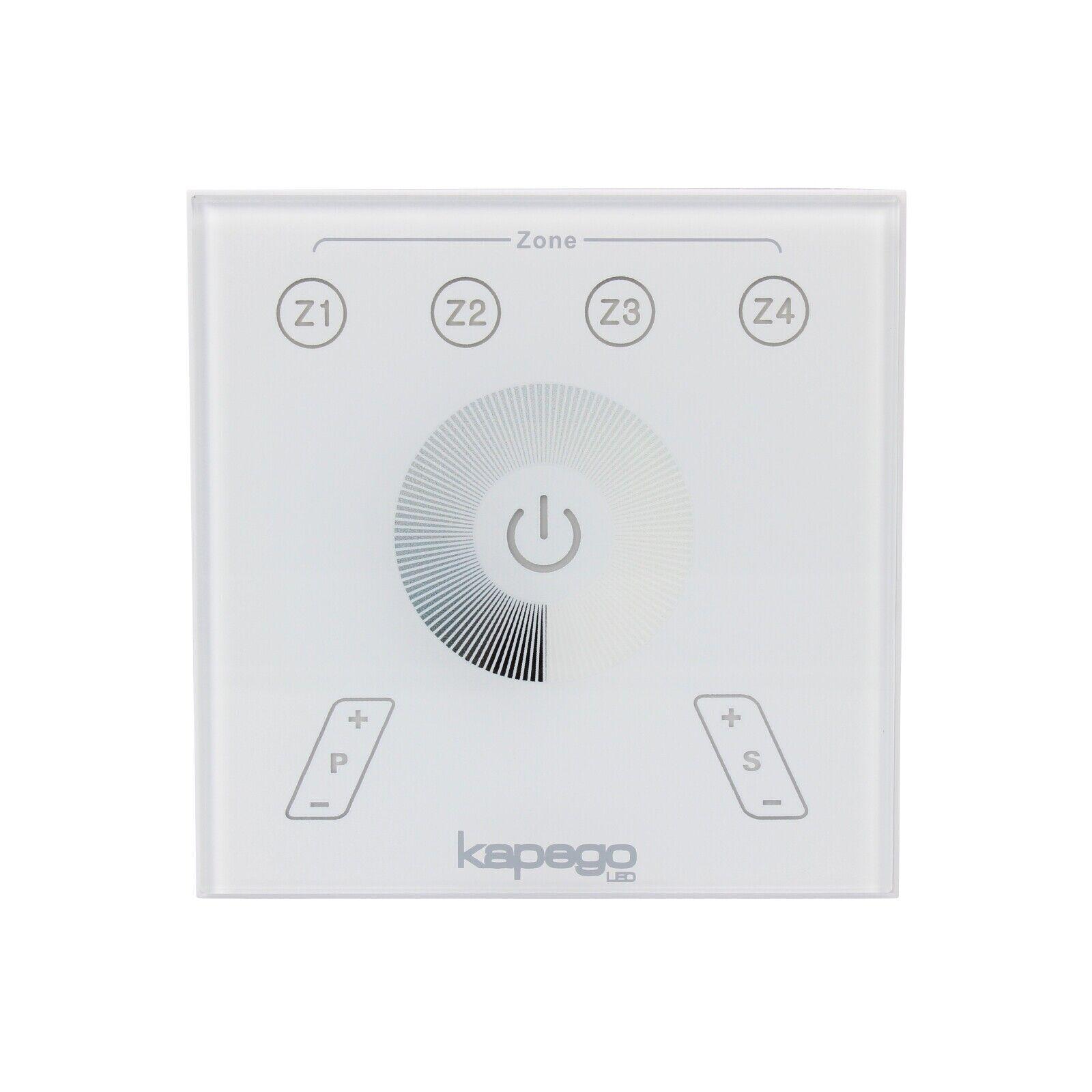 Funk Wand-Touch-Panel 4 Zonen Fernbedienung für KAPEGO Dimmer Controller RFsingl   | Gewinnen Sie hoch geschätzt  | Hohe Qualität und Wirtschaftlichkeit  | Sonderkauf