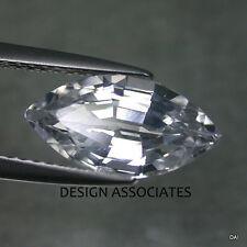 NATURAL WHITE SAPPHIRE 8X4 MM MARQUISE CUT DIAMOND COLOR