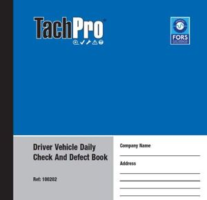 10 tachpro 50 page drivers daily duplicate defect check book 500