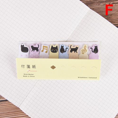 Mini kawaii cartoon animals cat panda memo pad sticker notes stationery stic OQ