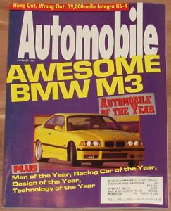 JANUARY-1995-AUTOMOBILE-MAGAZINE-BMW-M3-ACURA-INTEGRA-GS-R-FERRARI-456GT