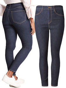 New Womens Marks /& Spencer Brown Sculpt /& Lift Skinny Jeans Size 18 Medium Short