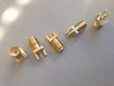 SMA Jack Female PCB Edge Mount 1.6mm (RP-SMA Male) 5pcs