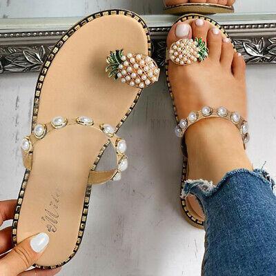 Women Fashion Girls Pearl Flat Bohemian