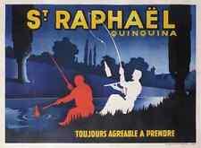 Metal Sign Sanit Raphael Aperitive Fishing Poster A4 12x8 Aluminium