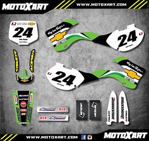 250 1999-2002 Full graphics kit FLASH style custom sticker kit decals KX 125