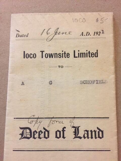 Vintage 1921 Vancouver Land Deed, Vintage Paper X3