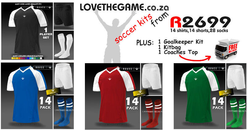 finest selection be82c ea1c4 Soccer Kits and Football Kits on SALE plus FREE DELIVERY | Bloemfontein |  Gumtree Classifieds South Africa | 138601766