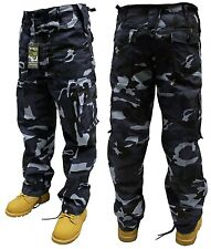 ARMY COMBAT TROUSERS MIDNIGHT CAMO 48'' FREE POSTAGE!
